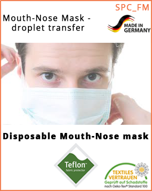 Mouth-nose mask - droplet sequences  (SPC_FM_US /  Mouth-nose mask)