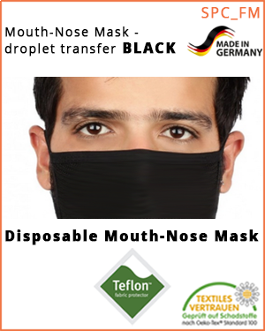 Mouth-nose mask - droplet sequences  (SPC_FMB_US /  Mouth-nose mask)