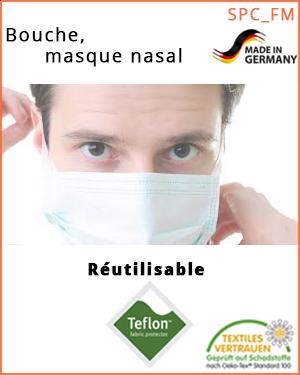 """Masque nez-bouche - transfert de gouttelettes (SPC_FM_M / bouche-, masque nasal) - taille """"M"""""""