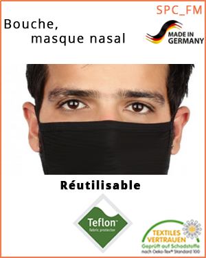 """Masque nez-bouche - transfert de gouttelettes (SPC_FMB_L / bouche-, masque nasal) - taille """"L"""""""